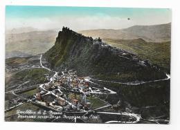 REPUBBLICA DI S.MARINO - PANORAMA AEREO BORGO MAGGIORE CON CITTA'  - VIAGGIATA FG - San Marino