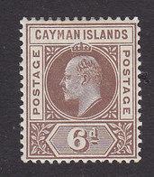 Cayman Islands, Scott #6, Mint Hinged, Edward VII, Issued 1900 - Cayman Islands