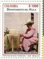 Lote 19r7, Colombia, 2003, Departamento De Huila, Suaza, Tejido Sombrero De Iraca, Woman, Hat - Colombia