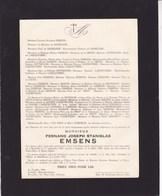 LOMMEL MOL RAUW Fernand EMSENS 1886-1946 Famille De SADELEER De La CROIX ANTHEUNIS - Avvisi Di Necrologio