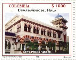 Lote 19r8, Colombia, 2003, Departamento De Huila, Neiva, Palacio Nacional, National Palace - Colombia