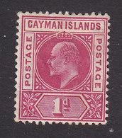 Cayman Islands, Scott #9, Mint Hinged, Edward VII, Issued 1905 - Cayman Islands