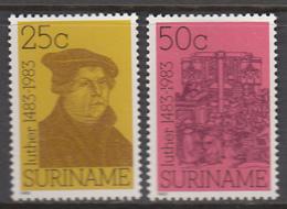 Suriname MNH Zonnebloem Nr 380/81 From 1983 / Catw 2.10 EUR - Surinam