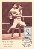 France Carte Max YT 1164 Lutte Bretonne Oblit 1er Jour Quimper 26/04/58 - Cartoline Maximum