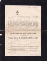 LIEGE ANNAPPES France Marie-Albertine De ROSEN De HAREN Veuve Oscar Comte De BRIGODE KEMLANDT 65 Ans 1885 De BIOLLEY - Avvisi Di Necrologio