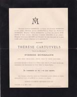 GOYER Thérèse CARTUYVELS Veuve Pierre BORMANS 72 Ans 1896 Famille MATHEI Faire-part Mortuaire - Avvisi Di Necrologio
