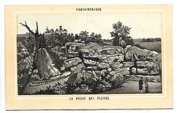 CHROMO - FONTAINEBLEAU - La Roche Qui Pleure - Non Classés