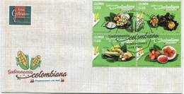 Lote 2018-4F, Colombia, 2018, SPD-FDC, Gastronomía Colombiana, Gastronomy, Corn, Food, Maiz - Colombia