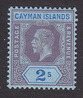 Cayman Islands, Scott #41, Mint Hinged, George V, Issued 1912 - Cayman Islands