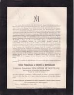 PARIS INGELMUNSTER Virginie De MONTGAILLARD Comtesse Douairière DESCANTONS De MONTBLANC 77 Ans 1889 - Avvisi Di Necrologio
