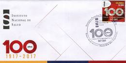 Lote 2018-5F, Colombia, 2018, SPD-FDC, Instituto Nacional De Salud, National Institute Of Health 100 Years - Colombia