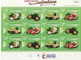 Lote 2018-4P, Colombia, 2018, Pliego, Sheet, Gastronomía Colombiana, Gastronomy, Corn, Food, Maiz - Colombia