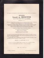 BRUGES UCCLE Joseph De BROUWER époux De CONINCK Ingénieur 1880-1946 Cimetière Uccle-Verrewinkel En 2 Volets Complets - Avvisi Di Necrologio