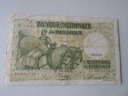50 FRANK Of 10 BELGA, 1944 - 50 Francos