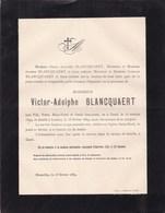 GAND LAEKEN Victor-Adolphe BLANCQUAERT 1849-1889 Faire-part Mortuaire - Avvisi Di Necrologio