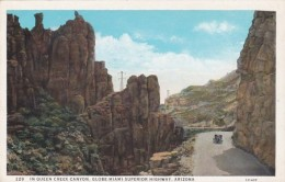 Arizona Scene In Queen Creek Canyon Globe Miami Superior Highway Curteich - Other