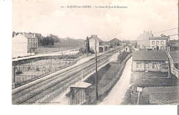 C P A   D 42    ST-JUST SUR LOIRE       La Gare De St Just St Lambert - France
