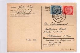 Zusammendruck 1937 Gustav RüppnLudwigsburg > Hillegersberg Rotterdam Collectors Club (201) - Se-Tenant