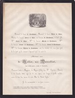 KERKOM BAGNERES DE BIGORRE De NELLER Née DARRABIAT 77 Ans 1862 Famille De BROUKMANS De THIER - Avvisi Di Necrologio