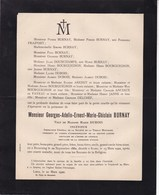 BEAURAING ROME Georges BURNAY Veuf DUBOIS Ingénieur 1860-1922 Inspecteur Société De La Vieille Montagne - Avvisi Di Necrologio