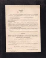 GAND WESEMBEEK Hector De BURBURE Veuf Maritza De UHRYNOWSKA 1843-1901 Etoile De Roumanie STOIANOVICI - Avvisi Di Necrologio