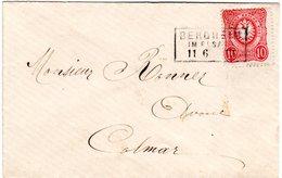 DR 1875, R3 BERGHEIM Im ELSASS Auf Kl. Brief M. 10 Pfge. - Deutschland