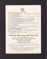 PUERS PUURS Jules Frans BRUSSELMANS Docteur Médecin époux NOBELS 1860-1936 Mort à MALINES - Avvisi Di Necrologio