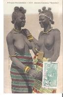 C P A   SENEGAL  AFRIQUE OCCIDENTALE   Jeunes Femmes Sonrhai  Aux Seins Nus    N°1117 - Senegal