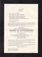 COURTRAI WESTENDE Louis FLORIN De DUIKINGBERG époux BUYSSE 1885-1955 Royal Automobile Club De Belgique - Avvisi Di Necrologio