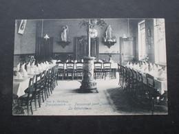CP BELGIQUE (V1802C) DROGENBOS DROOGENBOSCH (2 Vues) Pensionnat Saint Joseph - Le Réfectoire - Drogenbos