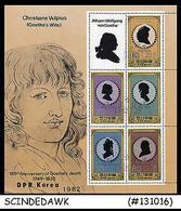 KOREA -1982 Christian Vulpius  150th Anniv Of Goethe's Death - M/S MNH - Korea, South