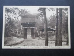 """CP BELGIQUE (V1802C) TOURNEPPE DWORP (2 Vues) Le Camp De """"La Fresnaye"""" - L'entrée Du Camp. Ecole Pour Chef - Beersel"""