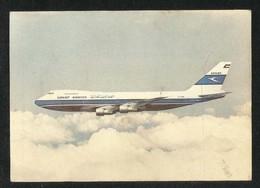 Kuwait Airways Airline  Picture Postcard Boeing 747 Jumbo Jet Airplane View Card - Kuwait