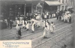 75e Anniversaire De L'Indépendance Belge - Cortège De La Fête Des Halles Et Marchés - 14 - Le Roi De La Graisse - Feesten En Evenementen