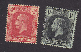 Cayman Islands, Scott #65-66, Mint Hinged, George V, Issued 1921 - Cayman Islands