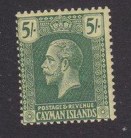 Cayman Islands, Scott #67, Mint Hinged, George V, Issued 1921 - Cayman Islands
