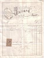 MAINE ET LOIRE - ANGERS - DECOR EPI - PAIN RICHE , VIENNOIS , SEIGLE , CROISSANTS , GATEAUX - BOULANGERIE JULIARD - 1881 - 1800 – 1899