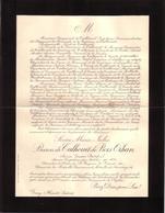 HAUTE SAÔNE - GRAY - AVIS DECES - SEVERE MARIE JULES BARON DE TALHOUËT DE BOIS ORHAN , ZOUAVE PONTIFICAL - 1906 - Avvisi Di Necrologio
