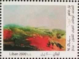 MNH Stamp Painting Nizar Daher 2018 Lebanon Liban Libanon - Lebanon