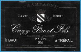 Etiquette De Vin De CHAMPAGNE - 51 TREPAIL Marne - COIZY Père Et Fils  Propriétaires Viticulteurs - Champagne