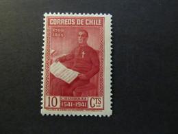 1941 - CHILE - CARMILO HENRIQUEZ - SCOTT 211 A90 10C - Cile