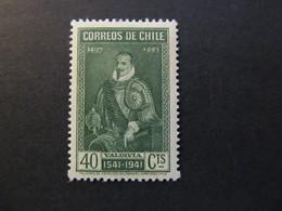 1941 - CHILE - PEDRO DE VALDIVIA - SCOTT 212 A90 40C - Chile