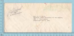 Canada  -EMA Senat Canadien 1954, Post Mark, Signature J.A. Richard MP. St Maurice Lafleche - 1952-.... Règne D'Elizabeth II