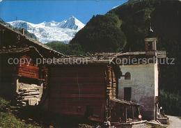 11866723 Ried Graechen VS Dorfpartie St. Niklaus Riedgletscher Nadelhorn Graeche - VS Valais