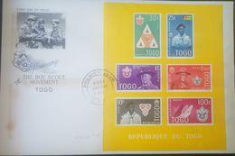 L) 1961 REPUBLIC OF TOGO, SCOUT, HONORING THE BOY SCOUT MOVEMET, YELLOW, FLAG, PEOPLE, DANIEL CARTER BEARD, ROBERT BADEN - Togo (1960-...)