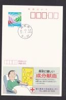 Japan Advertising Postcard 1994 Component Blood Donation (jadb3963) - Cartoline Postali