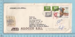 Republica Argentina  -  Expreso// Via Aerio, Many Stamp, Expreso Sticker, Cover Prosario 1977 To Aelmania - Argentine