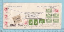 Republica Argentina  -  Expreso// Via Aerio, Many Stamp, Expreso Sticker, Cover Prosario 1977 To Aelmania, German Cover - Argentina