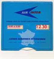 Disque De Stationnement AIR INTER - Lignes Aériennes Intérieures PARIS - Couverture Plastique - Voitures
