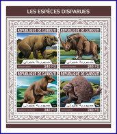 DJIBOUTI 2018 MNH** Extinct Species Ausgestorbene Tiere Especes Disparues M/S - OFFICIAL ISSUE - DH1813 - Briefmarken